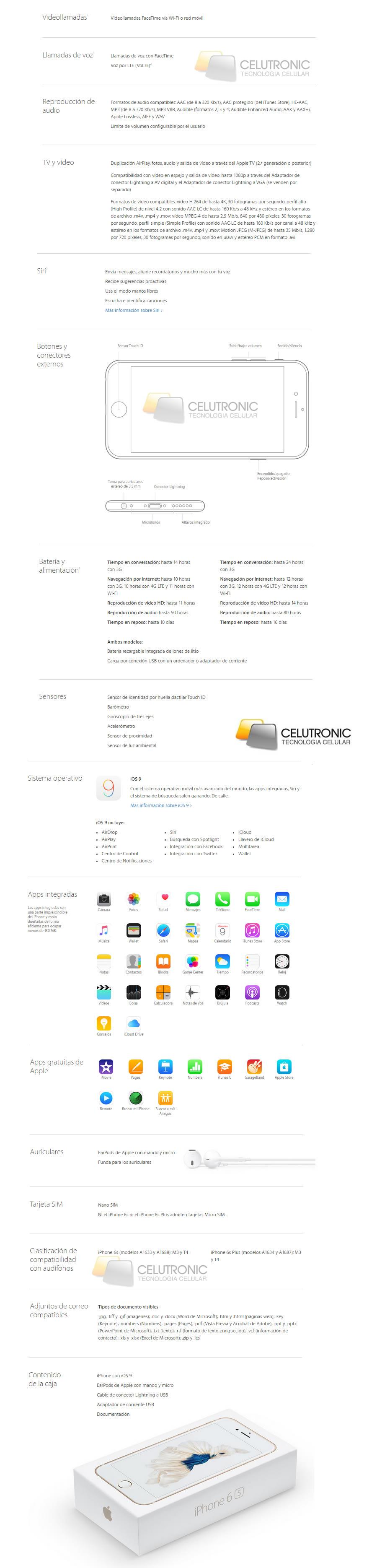 iphone s especificaciones argentina