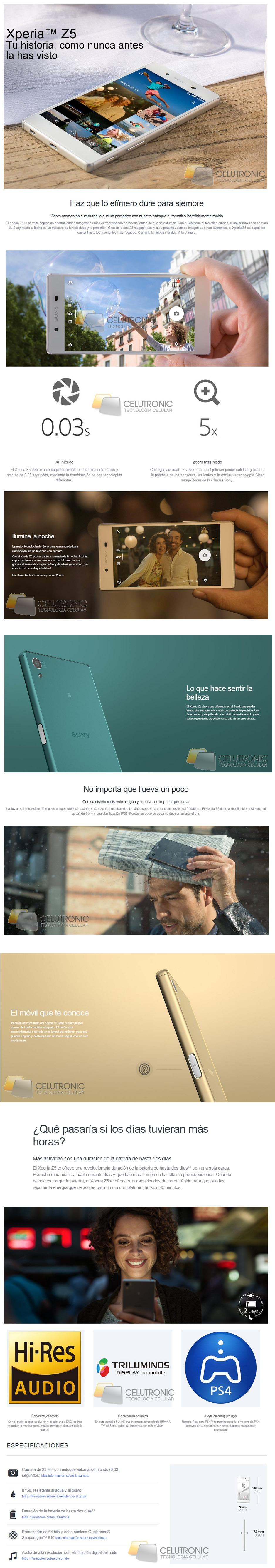 Sony Xperia Z5 Libre 4G LTe